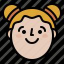 avatar, face, girl, profile, smile