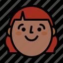 face, girl, head, smile icon