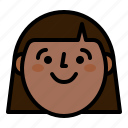 face, girl, people, smile icon