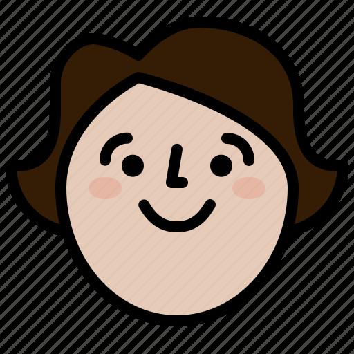 face, female, girl, smile icon