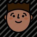 face, guy, profile, smile icon