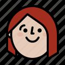 avatar, face, happy, smile icon
