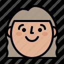 face, happy, profile, smile icon