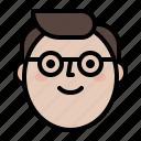 man, profile, smile, sunglass