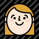 avatar, girl, smile, woman icon