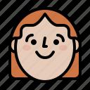 avatar, happy, profile, woman icon