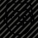 avatar, face, happy, man icon