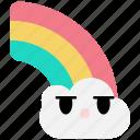 rainbow, weather, cloud