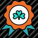 badge, award, medal, shamrock