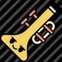 trumpet, instrument, music, sound