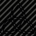 triquetra, christian, sign