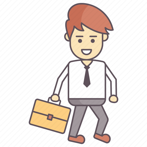 employee, going to office, going to work, ready to office, time to office, time to work icon