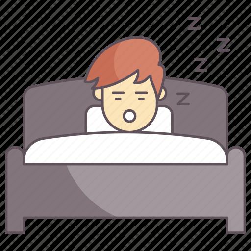 man sleeping, night, rest, sleep, sleeping icon