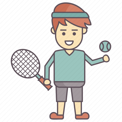 activity, ready to play, sports, tennis, tennis player icon
