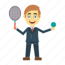 employee, happy, tennis, user, wimbledon icon