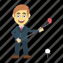 avatar, employee, golf, stick, user