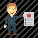 diet, employee, happy, report, user icon