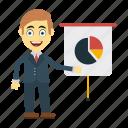 board, chart, employee, graph, presentation