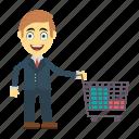 employee, happy, man, shopping, user