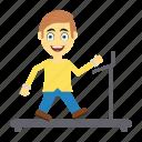 employee, exercise, happy, user, walking icon