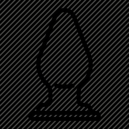 anal, ass, butt, plug icon