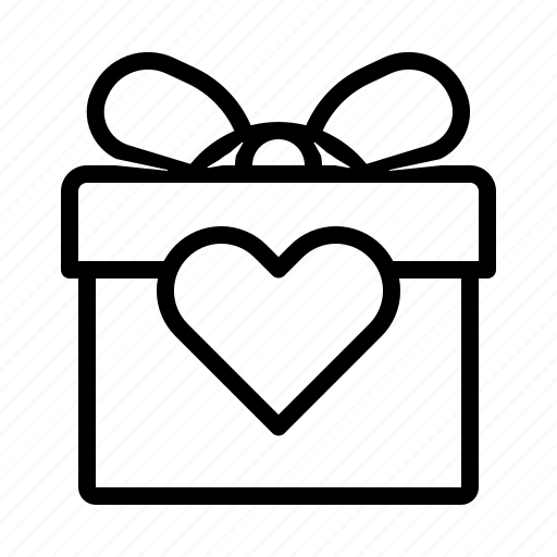 Box, gift, heart, shaped icon - Download on Iconfinder