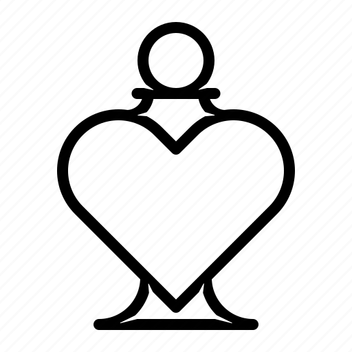 bottle, heart, love, perfume icon