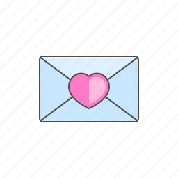 email, letter, love, mail, valentine day icon