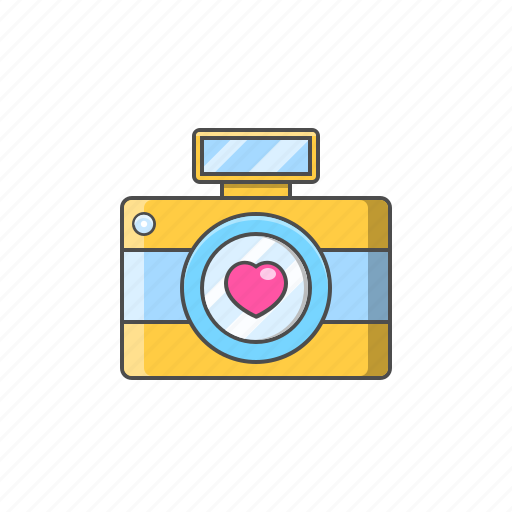 camera, image, love, selfie, valentine day icon