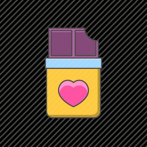 chocolate, gift, love, valentine day, valentine day gift icon