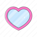 love, love shape, magic mirror, mirror, valentine day icon