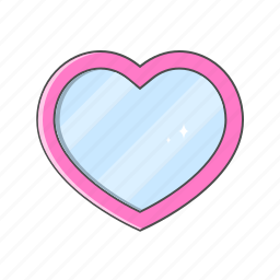 love, love shape, magic mirror, mirror, valentine day icon