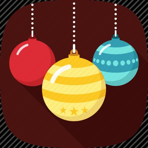 balls, colorful, decoration, xmas icon