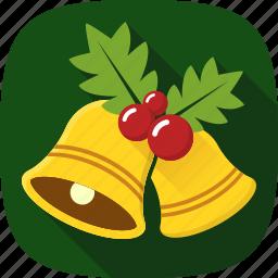bells, decoration, holidays, xmas icon