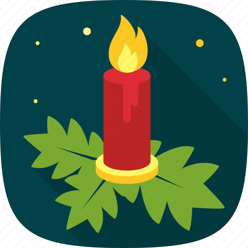 candle, decoration, light, night, xmas icon