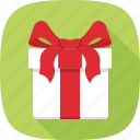 box, gift, package, ribbon, xmas icon