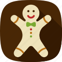 cookie, gingerbread, happy, xmas icon