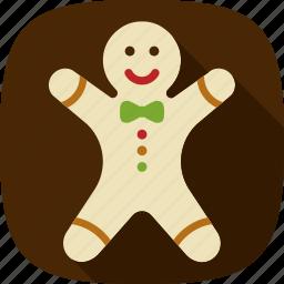 cookie, gingerbread, happy, xmas icon