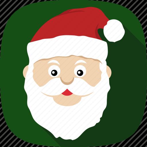 beard, christmas, holidays, santa, xmas icon