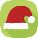 hat, red, santa, winter, xmas icon