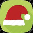 hat, red, santa, winter, xmas icon