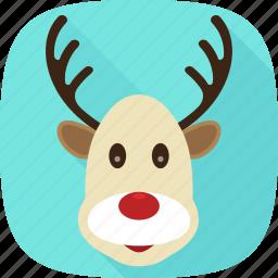 deer, reindeer, santa, xmas icon