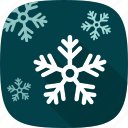 flakes, snow, winter, xmas icon