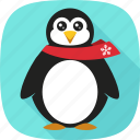 penguin, snow, winter, xmas icon