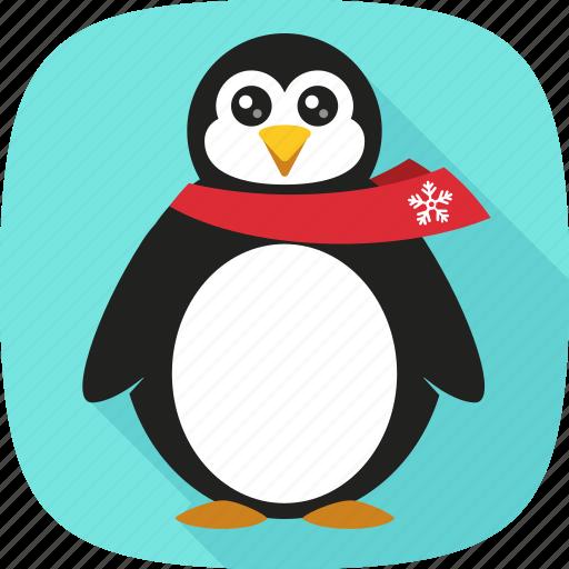 penguin, snow, winter, xmas icon