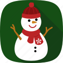 snow, snowman, winter, xmas icon