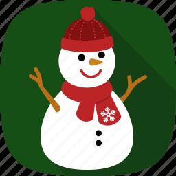snow, snowman, winter, xmas icon