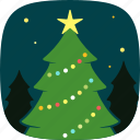 decoration, lights, pine, tree, xmas icon