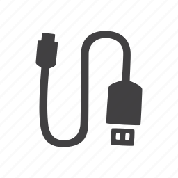 cable, glyphs, ui, usb icon