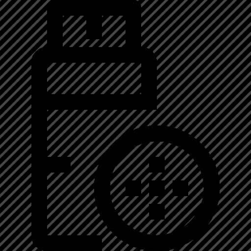 data, file, flashdrive, share icon